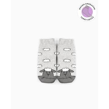 Носки детские махровые, цвет светло-серый меланж, размер 18