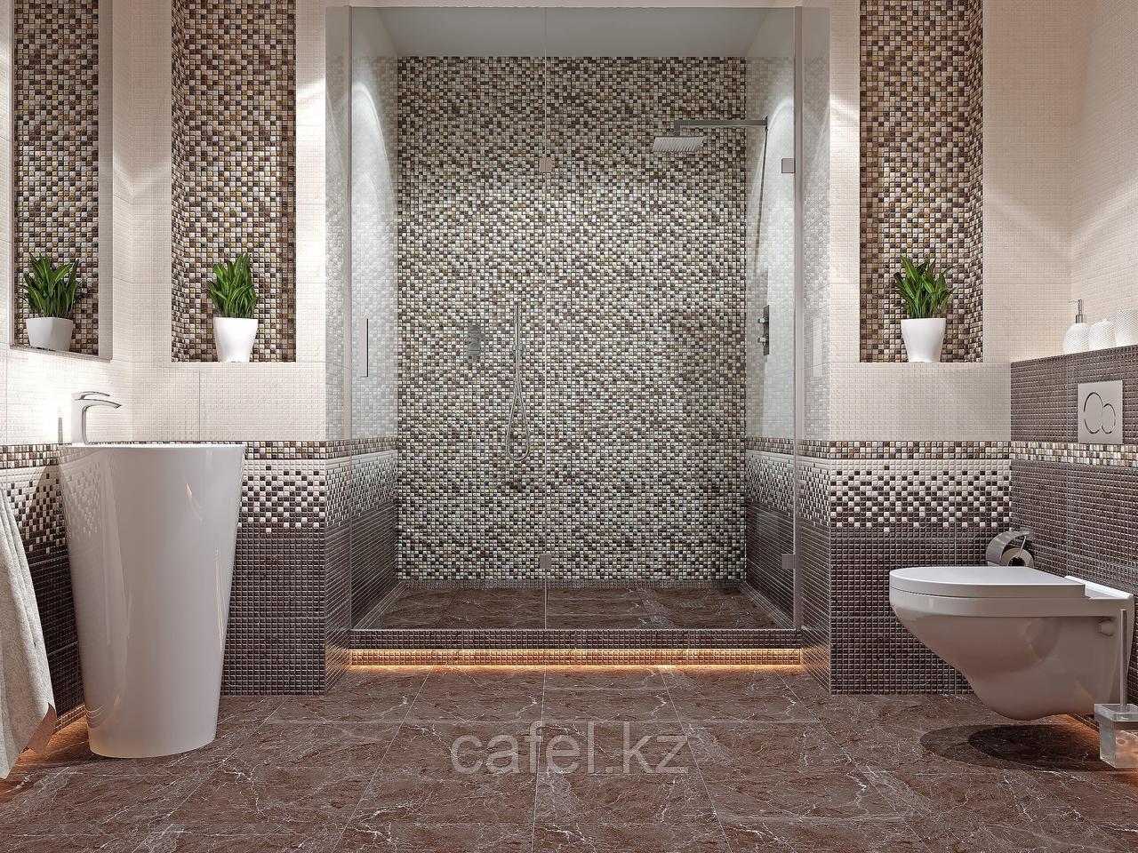 Кафель   Плитка настенная 28х40 Кармен   Carmen коричневый рельеф