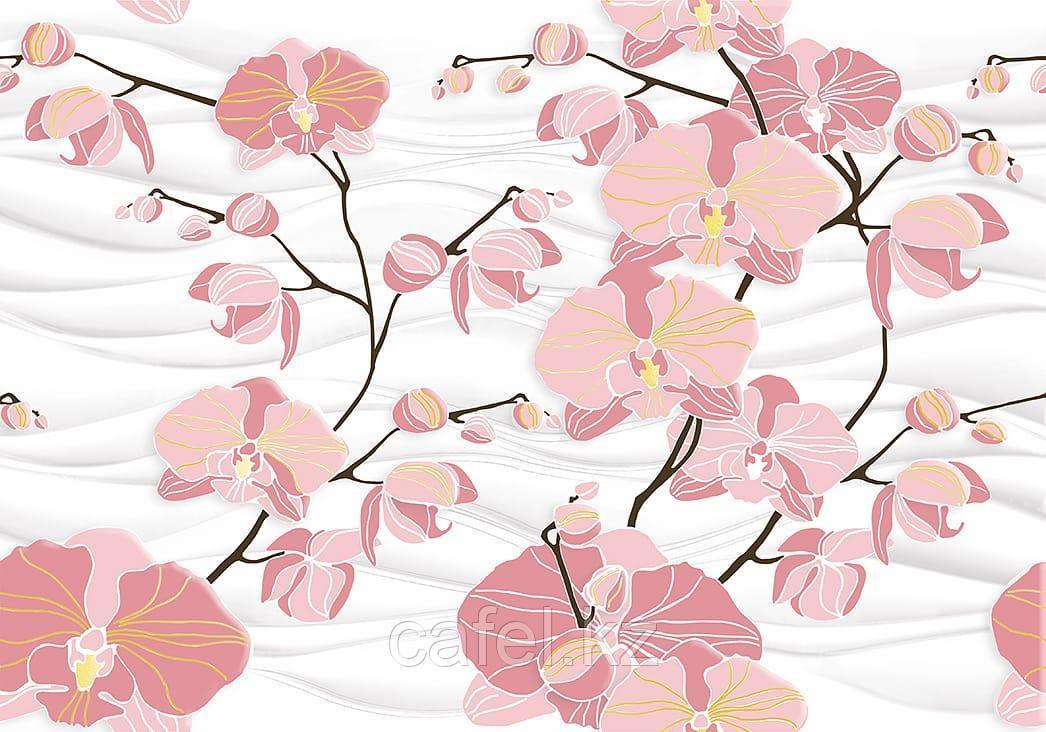 Кафель | Плитка настенная 28х40 Орхидея | Orhideya вставка D2