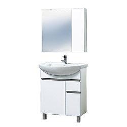 Комплект тумба с умывальником и зеркалом для ванной «Акваль Афина» 70 см. (Умывальник Палермо 70)