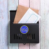 Ящик почтовый без замка (с петлёй), горизонтальный 'Мини', чёрный