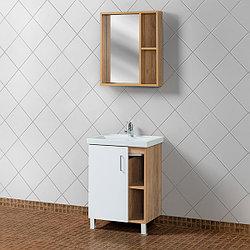 """Комплект Тумба с умывальником для ванной «Акваль Лофт» 60 см. Белый матовый (Умывальник """"Фостер""""600)"""