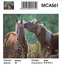 "Картина по номерам  ""Лошади среди трав"" 40х50 см, фото 2"