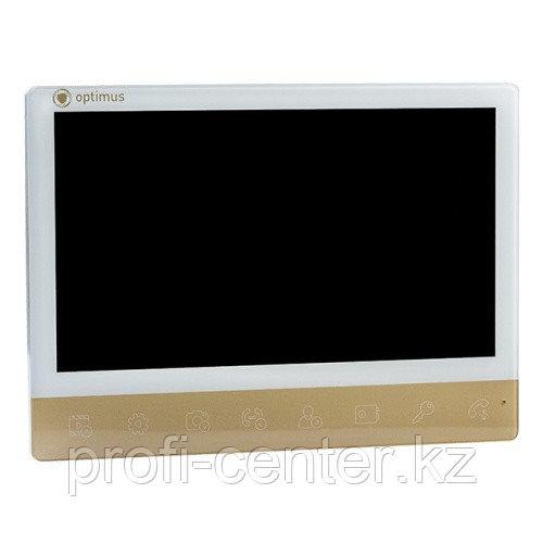 Видеодомофон Optimus VMH-10 gold  (белый+золото)