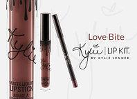 Жидкая матовая помада + карандаш KYLIE Lip Kit от Кайли Дженнер (Love Bite)