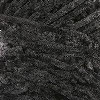 Пряжа фантазийная 100 микрофибра 'Велюр лайт' 100 гр 85 м чёрный (комплект из 5 шт.)