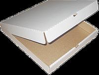 Пицца коробка 300*300*30мм гофрированная белая