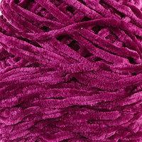 Пряжа фантазийная 100 микрофибра 'Велюр лайт' 100 гр 85 м фиолетово-баклажанный (комплект из 5 шт.)