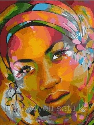 "Картина по номерам ""Арт-портрет африканки"" 40х50 см"