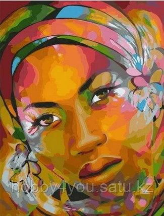 """Картина по номерам """"Арт-портрет африканки"""" 40х50 см, фото 2"""