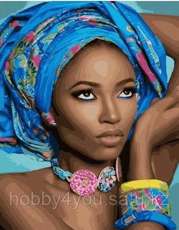 """Картина по номерам  """"Африканская модель""""  40х50 см"""