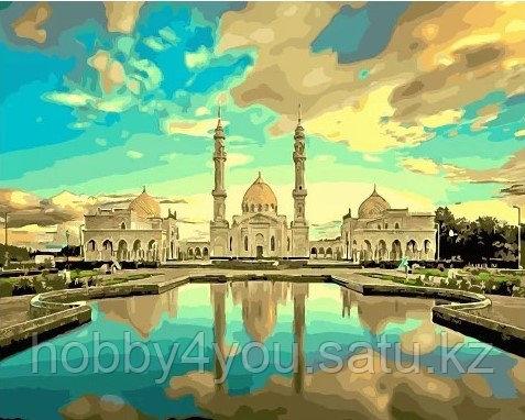"""Картина по номерам  """"Белая мечеть в г. Болгар""""  40х50 см"""