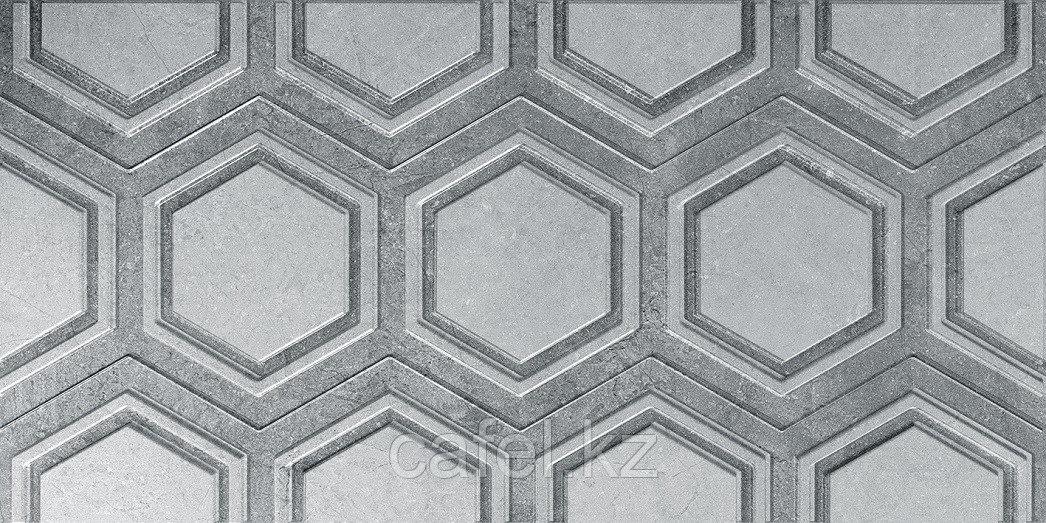 Кафель   Плитка настенная 25х50 Роно   Rona серый