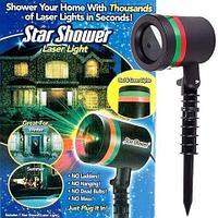 Проектор уличный «Звездопад» Star Shower Laser Light