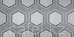 Кафель | Плитка настенная 25х50 Рона | Rona вставка серый