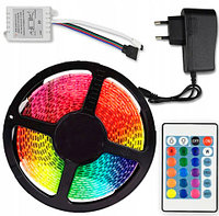 Лента светодиодная  RGB с пультом и блоком питания LED STRIP