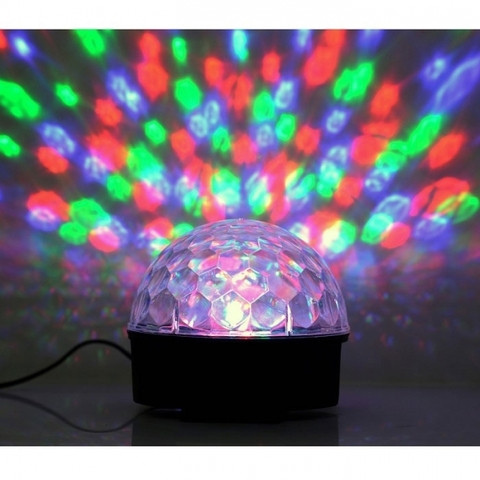 Диско-шар с МР3-плеером LED CRYSTAL MAGIC BALL LIGHT ver.2 {USB, microSD, пульт ДУ} - фото 2