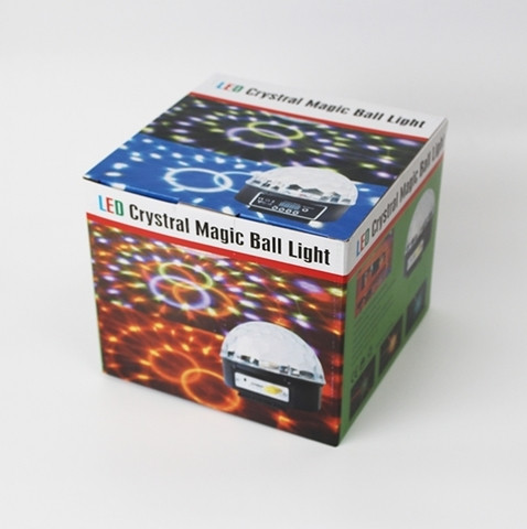 Диско-шар с МР3-плеером LED CRYSTAL MAGIC BALL LIGHT ver.2 {USB, microSD, пульт ДУ} - фото 3