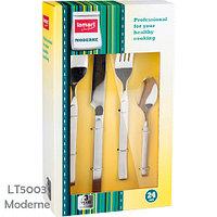 Набор столовых приборов из нержавеющей стали LAMART by Piere Lamart (LT5003 Moderne (24 пр))
