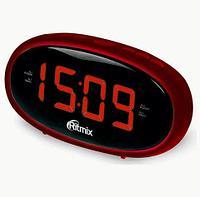 Радиочасы электронные Ritmix RRC-616 с питанием от сети (Красный)