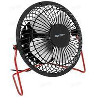 Вентилятор настольный металлический CENTEK Air Black&RED {защитная решетка, USB} (Черно-Красный)