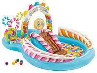 Мини-аквапарк надувной игровой центр «Конфетная зона» с набором аксессуаров INTEX 57149NP {295x191x130 см}