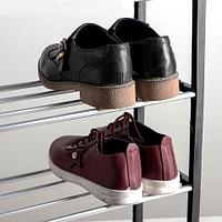Полка обувная в 4 яруса «Доляна» {50 x 19 x 60 см} (Черный)