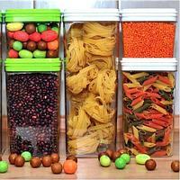 Набор контейнеров для сыпучих продуктов «Фикс» 3 в 1 {0,6/0,6/1,3 л}