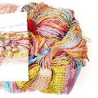 Штора-лапша веревочная «Кисея-занавес из нитей» {3 x 3 метра} (Разноцветный / с бусинами)