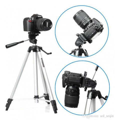 Штатив-трипод с телескопической осью для смартфона, GoPro и фотоаппарата до 3кг Tripod 330A с чехлом - фото 1