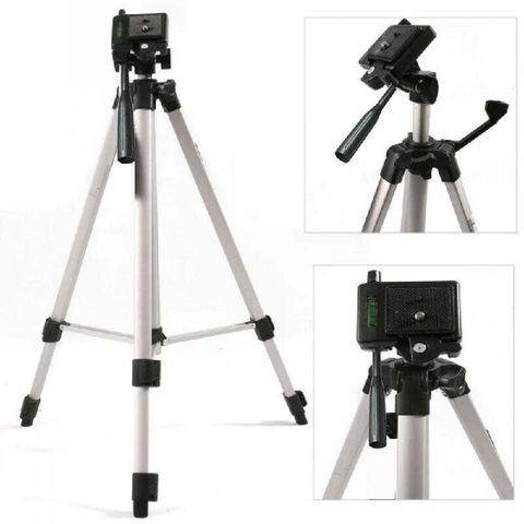 Штатив-трипод с телескопической осью для смартфона, GoPro и фотоаппарата до 3кг Tripod 330A с чехлом - фото 4