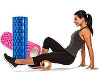 Валик-ролик массажный для занятия фитнесом (33 х 14 см)