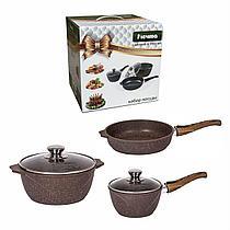 Набор антипригарной посуды Мечта Granit Brown