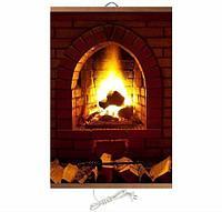 Электрообогреватель-картина гибкий настенный «Доброе тепло» 500W TeploMaxx (Камин)