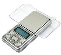 Весы аптечные ювелирные электронные карманные Pocket Scale с синей подсветкой (500 ± 0,1 г)