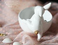 Чашки для конфет (сухофруктов, украшений..). 1 чашка. Золотой кролик. (нога вверх)