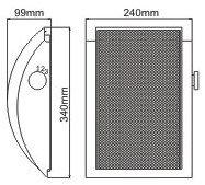Настенная широкополосная акустическая система Ridial NT-610TA