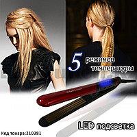 Стайлер-гофре керамическая для укладки волос с 5 режимами температуры и дисплеем с LED подсветкой St3300