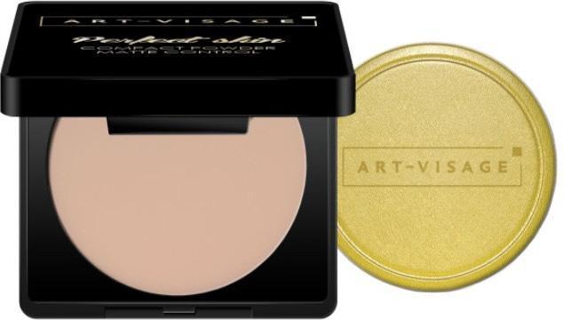 Пудра компактная для жирной и комбинированной кожи Art Visage, оттенок 213 Розовый бежевый