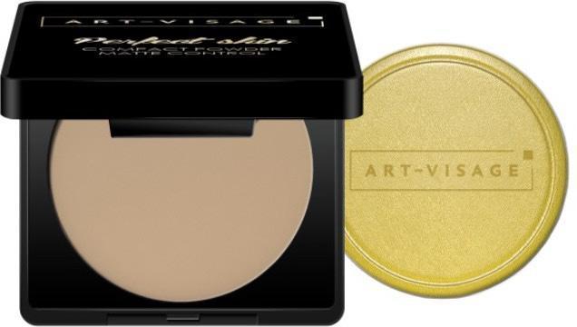 Пудра компактная для жирной и комбинированной кожи Art Visage, оттенок 214 кремовый