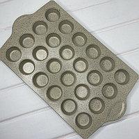 Антипригарная форма на 24 кекса с каменным покрытием