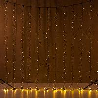 """Модульная световая гирлянда """"Дождь"""" 3х3 метра, тёплый белый цвет, 450 лампочек, светит постоянно"""