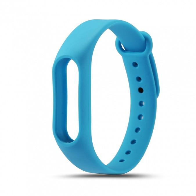 Силиконовый ремешок Xiaomi Mi Band 2 Strap голубой(MYD4088TY)