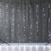 """Модульная LED гирлянда """"Дождь"""" 6х2 метра, белый свет, 400 лампочек, 8 режимов свечения"""