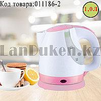 Электрический чайник с функцией авто отключения SDH-203 розового цвета