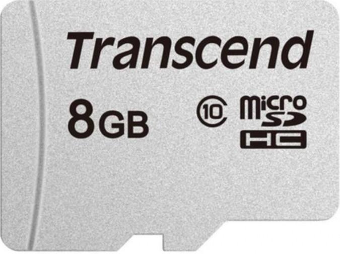 Карта памяти MicroSD 8GB Class 10 Transcend TS8GUSD300S