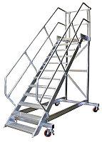 Трап передвижной с платформой 6 ступ. 800 мм из легк. металла, 45° арт.828057