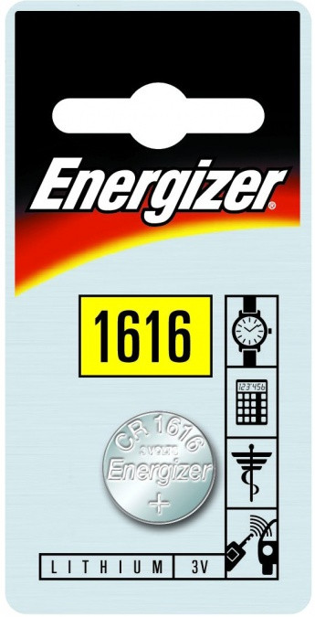 Элемент питания Energizer CR1616 -1 штука в блистере.