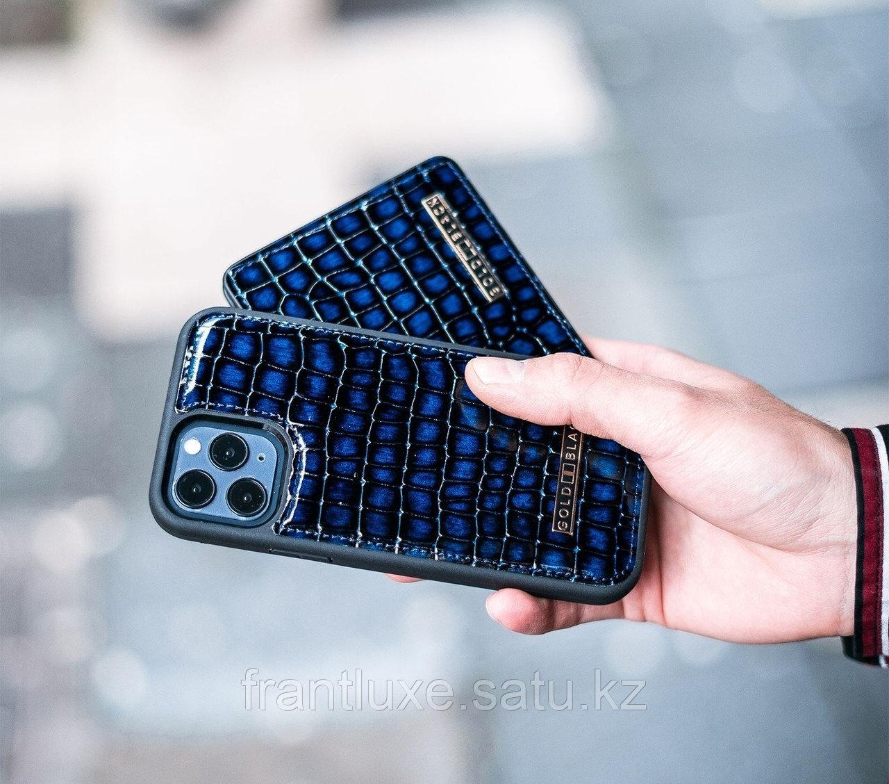 Чехол для телефона iPhone 12/12 Pro синий - фото 6