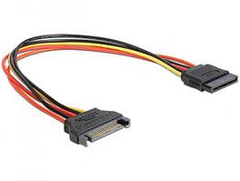 Удлинитель кабеля питания SATA Cablexpert CC-SATAMF-01, 15pin(M)/15pin(F), 30см